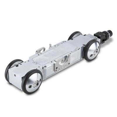 Tecsan Inspección de tuberías y pozos Sistema modular Tractores de cámara Carro de tracción intermedio T76