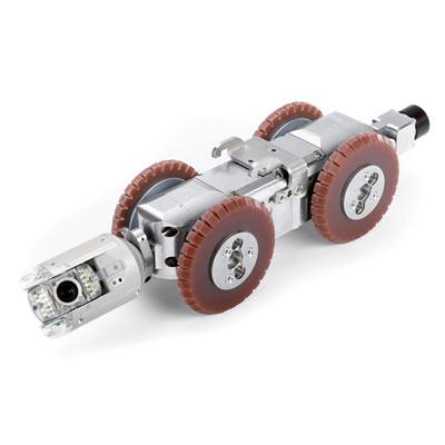 Tecsan Inspección de tuberías y pozos Sistema modular Tractores de cámara Carro de traccion pequeño T66