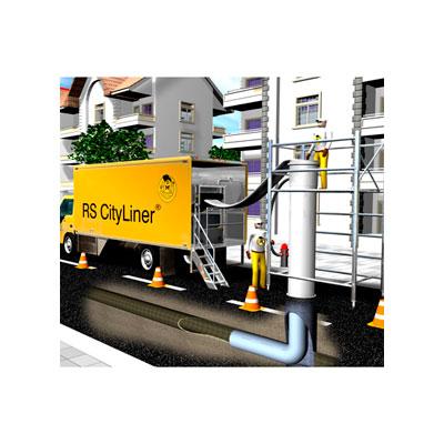 Tecsan Rehabilitación de tuberías Curado con epoxi Cityliner Reparacion tuberias sin obra Cityliner