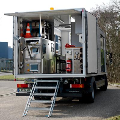 Tecsan Rehabilitación de tuberías Curado con ultravioleta Configuración en furgón Furgon UV Furgón UV