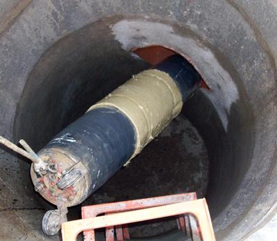 Tecsan Rehabilitación de tuberías Puntual Manguitos (packers) Rehabilitacion de tuberias con manguitos Manguitos (packers)