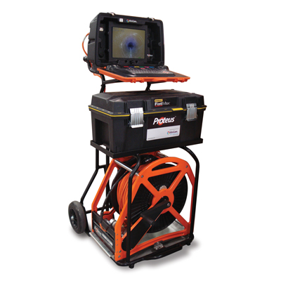 Equipo de inspección de tuberías Sistema modular motorizado Videoinspección Proteus
