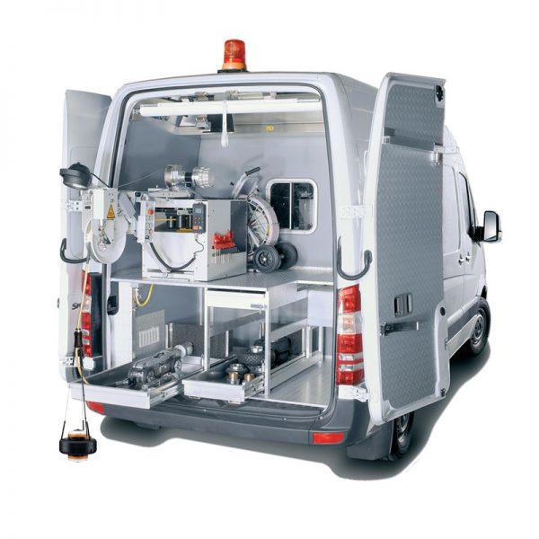 Unidad móvil CCTV para inspección de canalizaciones