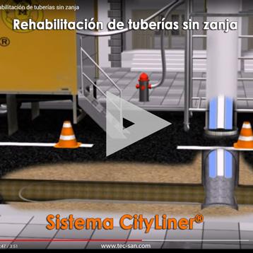 Rehabilitación de tuberías sin zanja. Cityliner