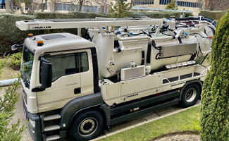 Camiones de limpieza de tuberías Müller. Tecsan